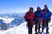 Geführte Tour Montblanc, auf dem Gipfel Montblanc. Foto: Günther Härter.