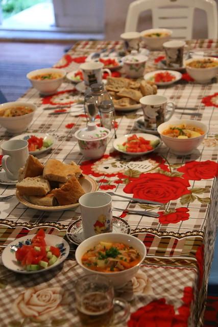 Dinner at  Eshkashem Hostel