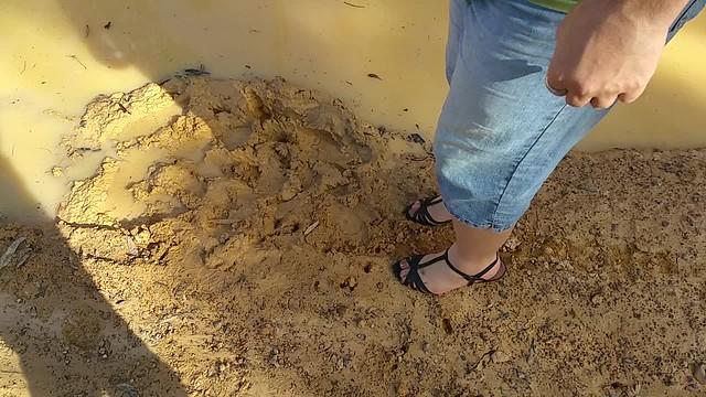 Me having fun in her heel sandals 😆