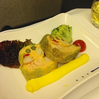 Seafood terrine with rouille sauce