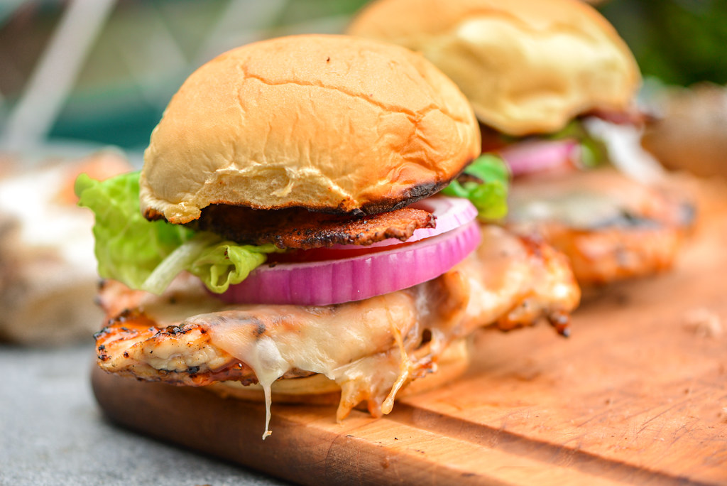 Sweet and Spicy Grilled Chicken Sandwiches