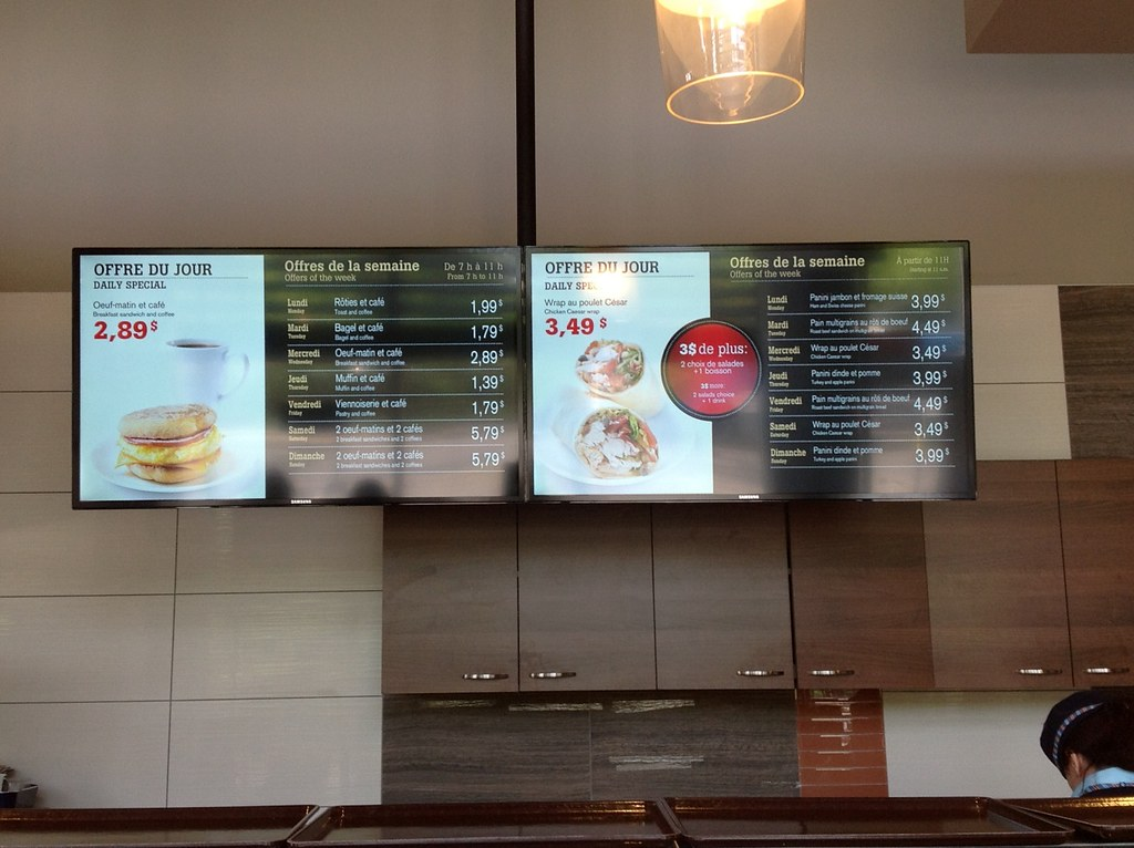 Menu Dynamique /Digital Menu Board -  IGA Millen