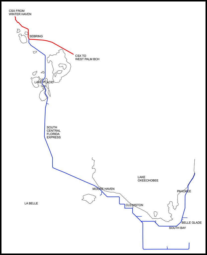 South Central Florida Express In 2013 Simplified Map Shows Flickr