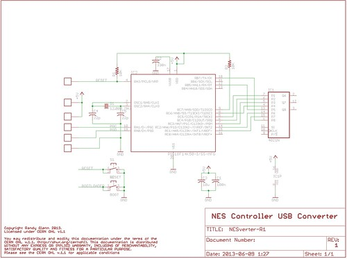 NESVerter Nes Controller Schematic on