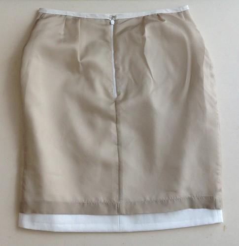 White skirt - lining