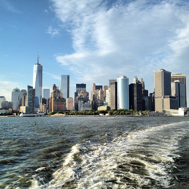 Great view of #Manhattan as the Staten Island Ferry takes off