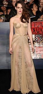 Kristen Stewart Sheer Dress Celebrity Style Women's Fashion