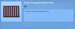 Rose Corrugated Metal Roof