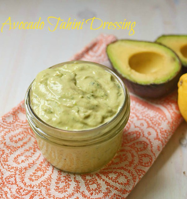 Avocado Tahini Dressing via LittleFerraroKitchen.com