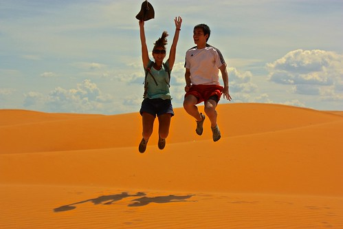 these dunes are great for jumping shots