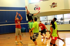 tournament(0.0), volleyball player(1.0), ball over a net games(1.0), volleyball(1.0), sports(1.0), wallyball(1.0), competition event(1.0), team sport(1.0), ball game(1.0),