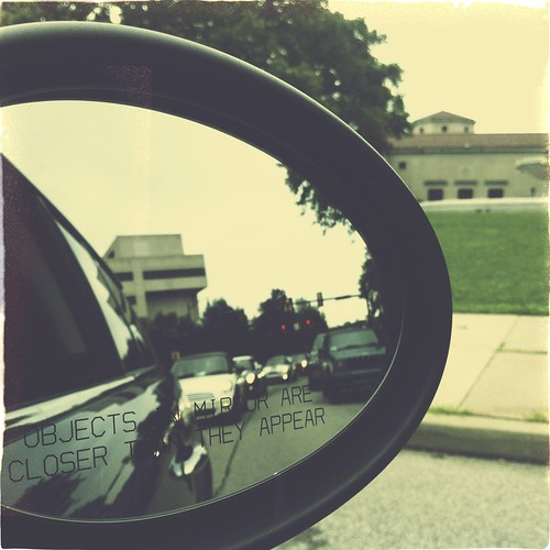 Objects in the mirror.