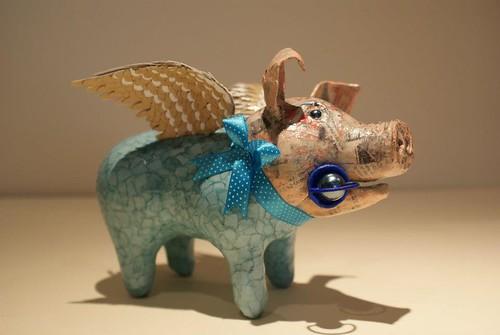 paper maché pig