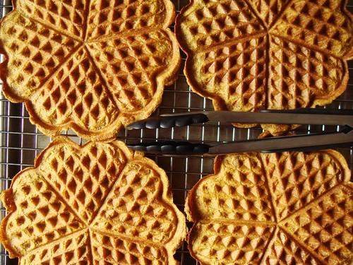 Pumpkin Rye Waffles