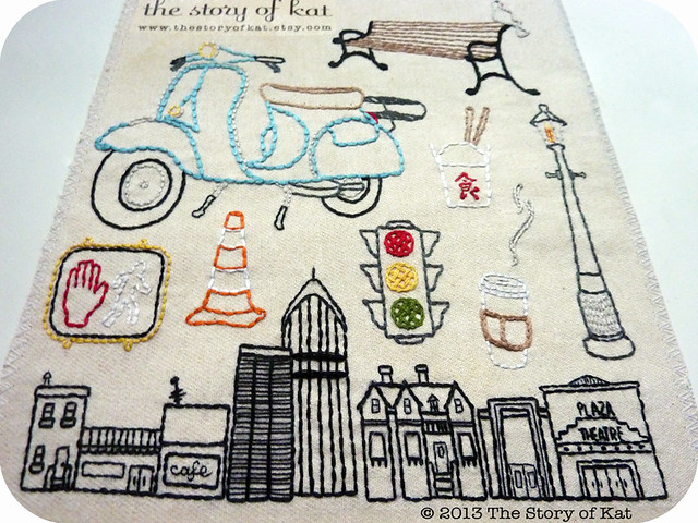 City Set Embroidery Pattern