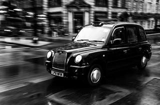Taxi londonien (N&B)