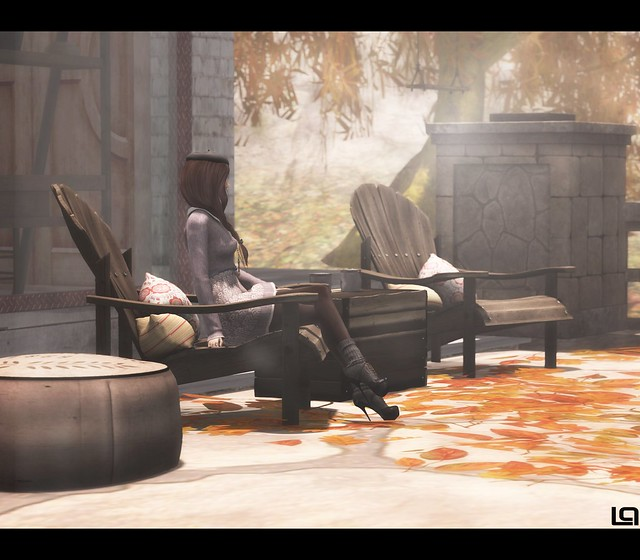 Trompe Loeil - Dardon Stone Fireplace Wall for C88 Sept &  Cheeky Pea -   Margarita Chair Dark