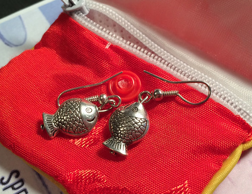 Silver Fish Earrings from Montreal