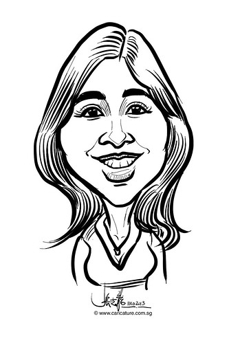 Digital live caricature for NTUC D&D 2013 - 9