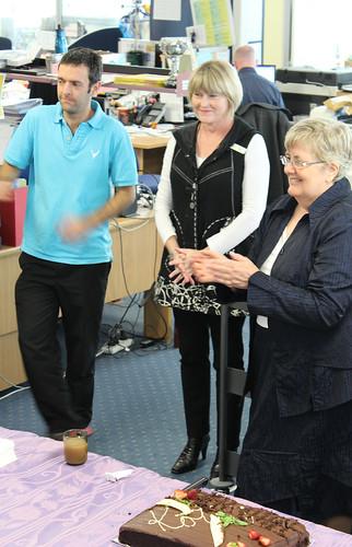 Alison Elliot and Tauranga staff.