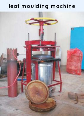 leaf moulding machine