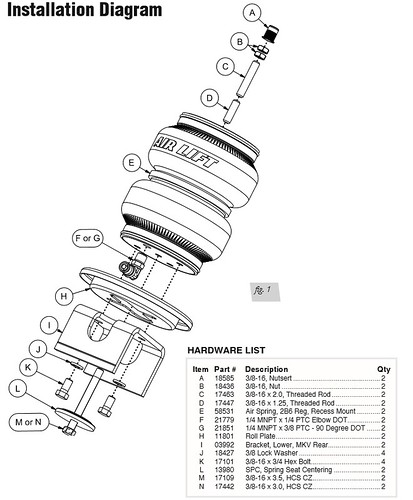 air lift doubble bellows rear help     vw