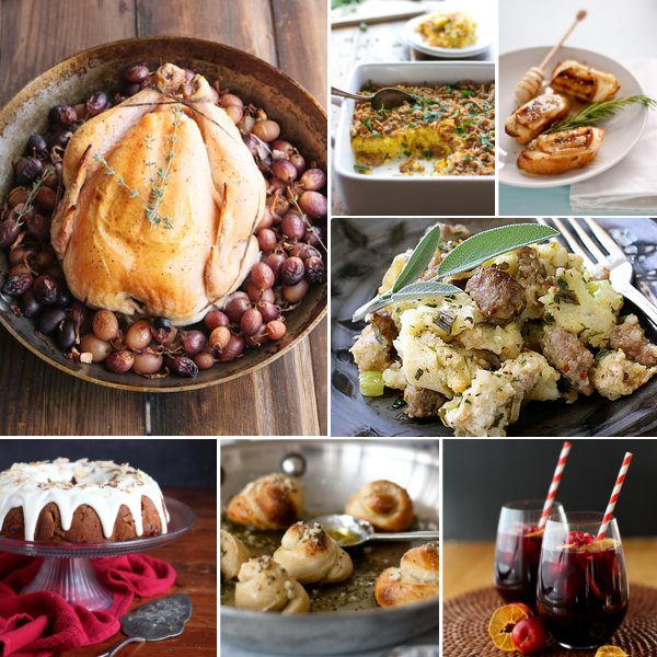 A Thanksgiving Menu, with recipes from some of my favorite food bloggers
