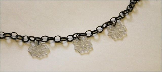 diy snowflake charm bracelet 3