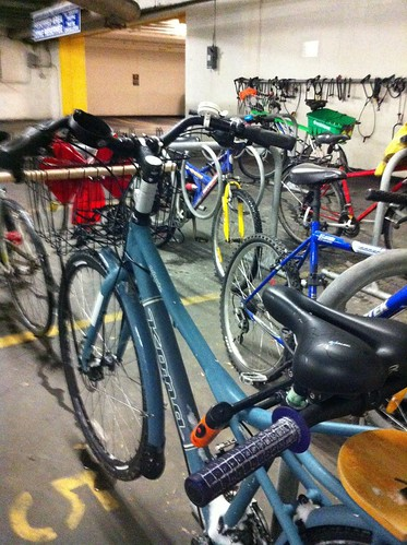 Underground parking... a good place to hide the bike from the freezing rain in the forecast