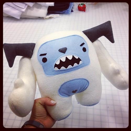 I made a Yeti! He is extra fat & grumpy. Thanks @zooguu!!!