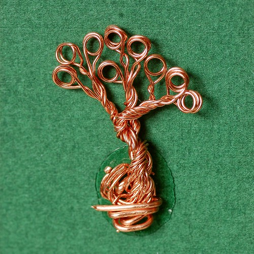 Small tree made from twisted copper