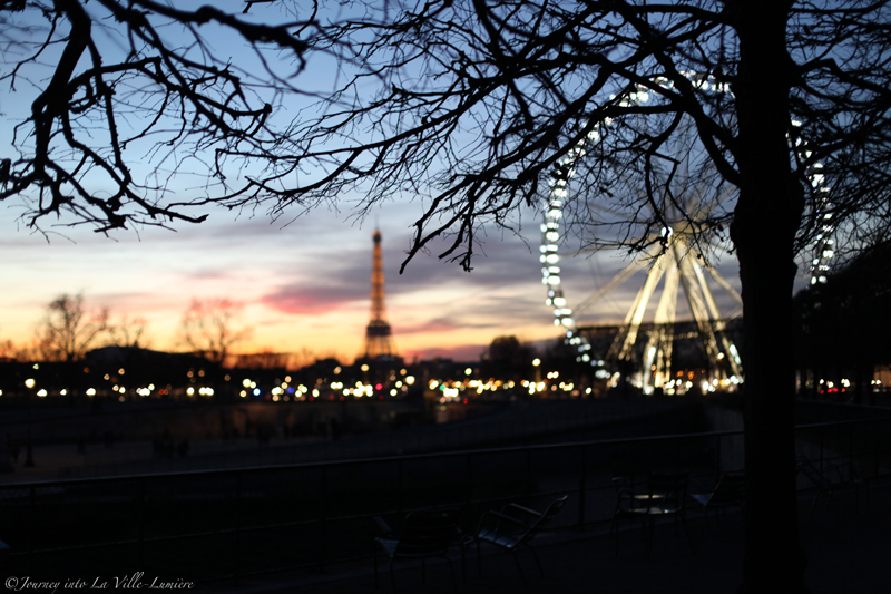 Sunset over the Jardin des Tuileries