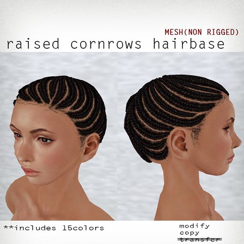 booN raised cornrows hairbase