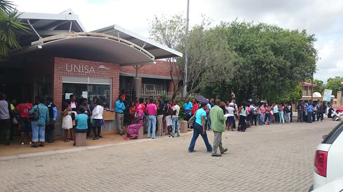 Queue outside Unisa's Polokwane campus