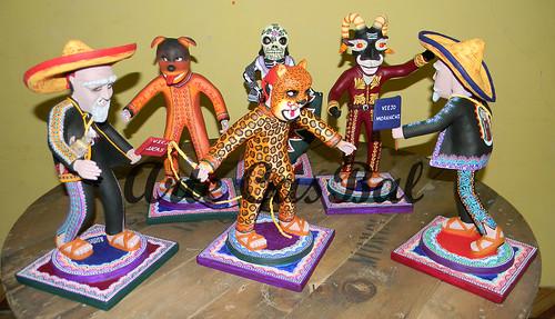 danza de los tecuanes, en barro by artecasbal