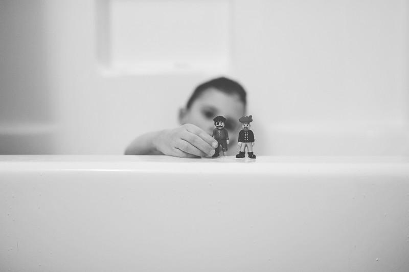 five minutes: bath