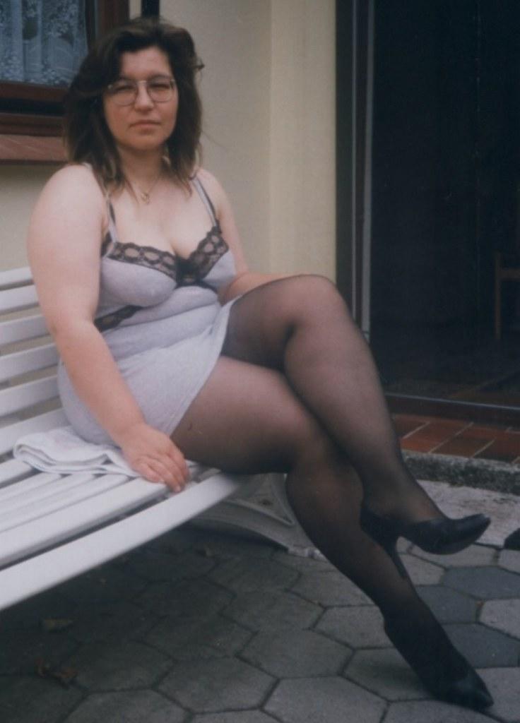 image Chubby grandma with rock hard nipples gets fucked outdoors