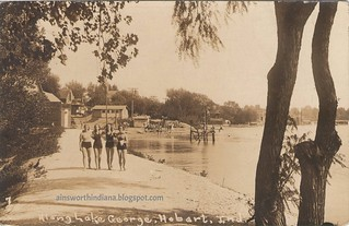 Along Lake George ca 1933.