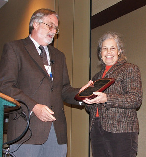 Picture of Engle receiving award