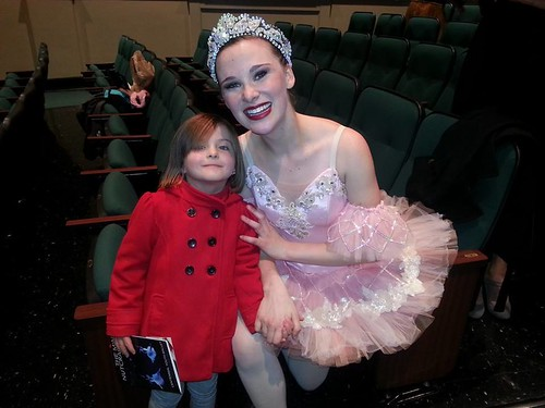 Cora with the sugar plum fairy - Mini Nutcracker