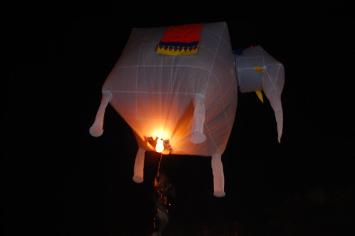 Flaming Elephant Loi Krathong