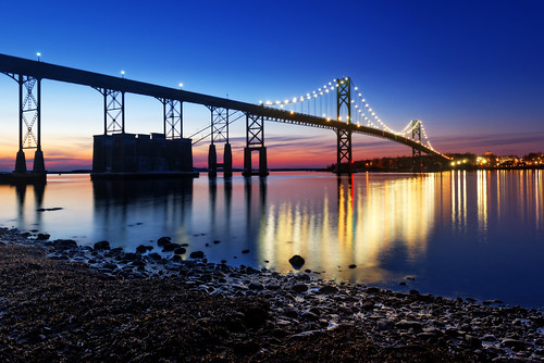 ri bridge sunset bristol twilight unitedstates newengland rhodeisland portsmouth mounthopebridge mounthopebay