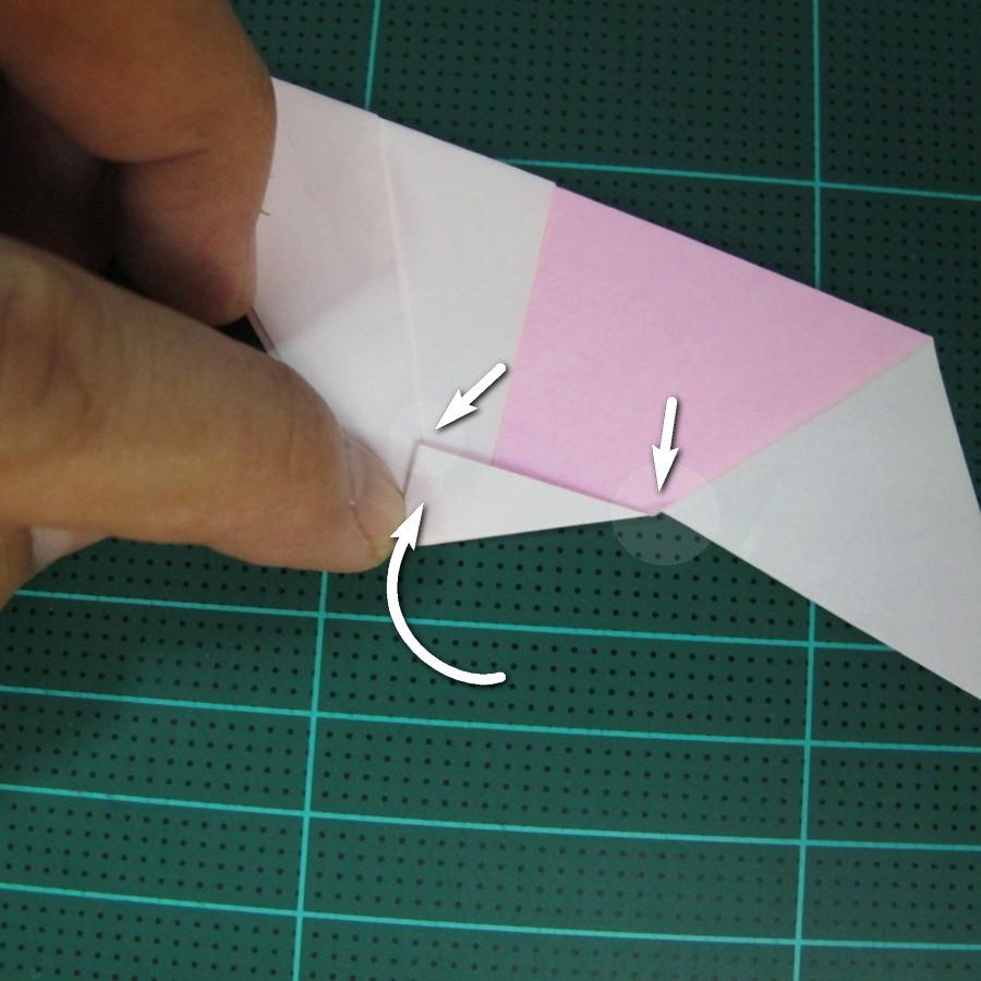 วิธีพับกระดาษเป็นรูปเครื่องบินแบบบินไกล (SST Origami Airplane) 016