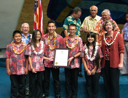 Honoring Niu Valley Middle School Band