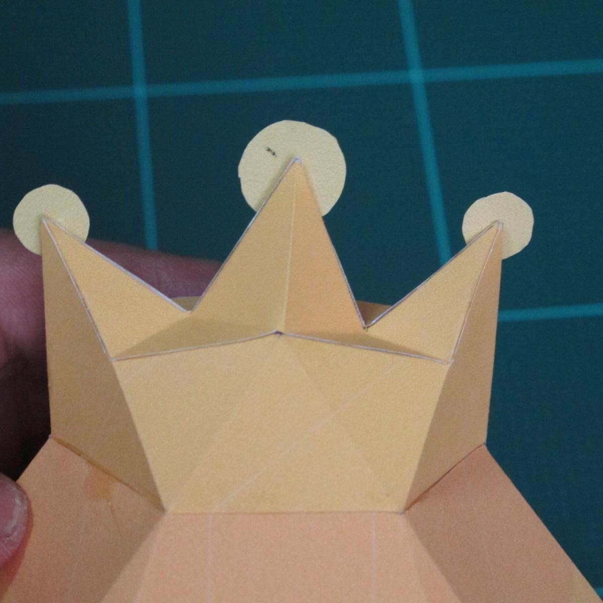 วิธีทำโมเดลกระดาษตุ้กตาสัตว์เลี้ยง หยดทองจากเกมส์ คุกกี้รัน (LINE Cookie Run Gold Drop Papercraft Model - クッキーラン  「黄金ドロップ」 ペーパークラフト) 019