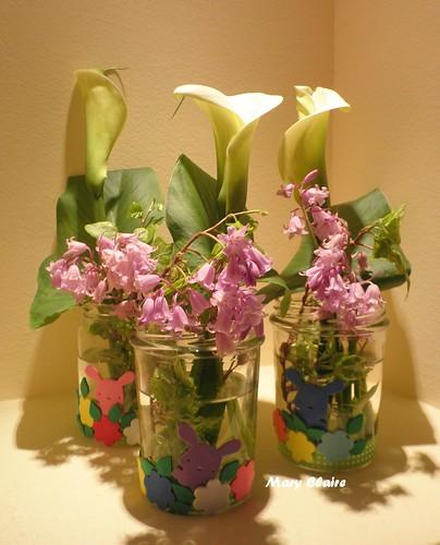 vasetti di vetro per maestre con fiori