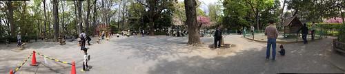 とらちゃんと有栖川宮記念公園(港区) パノラマ写真