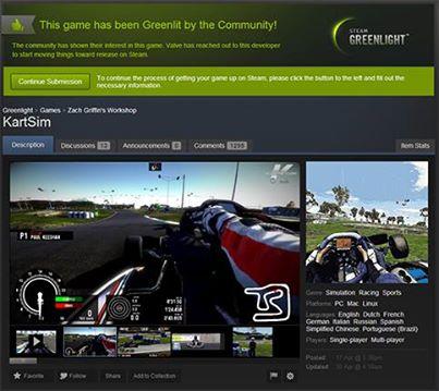 Kart Sim Steam Greenlight