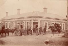 Mail Coach outside the old Bush Inn, Willunga, ca 1908