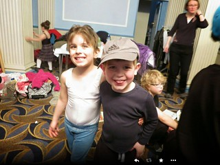 The lad and his gal backstage as their dance school's show